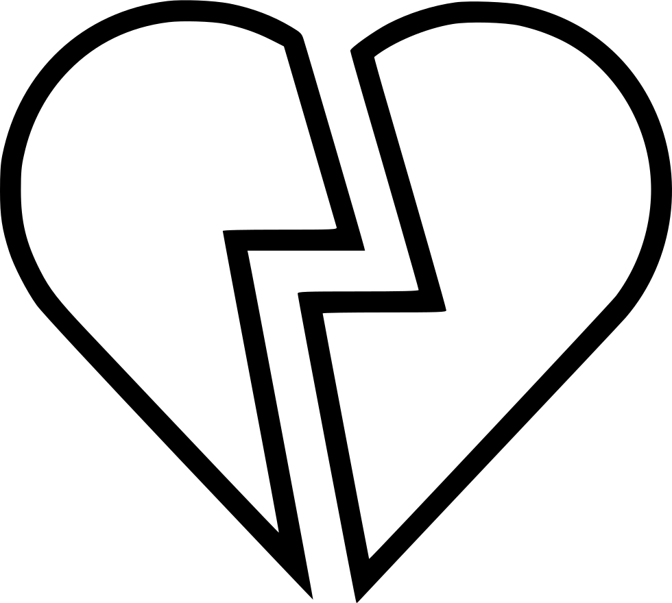 Black and white broken heart clipart clip library download Broken Heart Over Video Gaming Svg Png Icon Free Download (#573419 ... clip library download