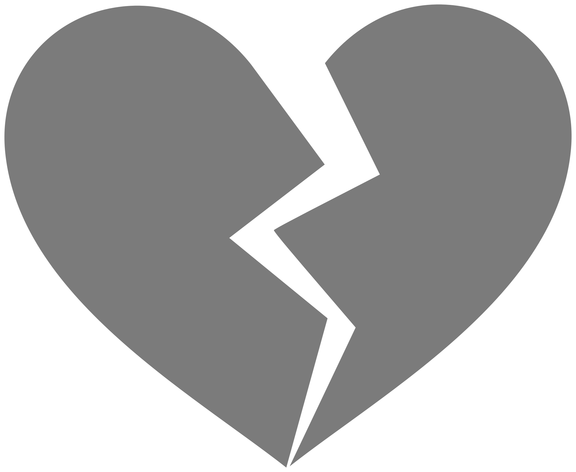 Gray heart clipart png royalty free stock Broken Heart Clipart Free Download Clip Art - carwad.net png royalty free stock
