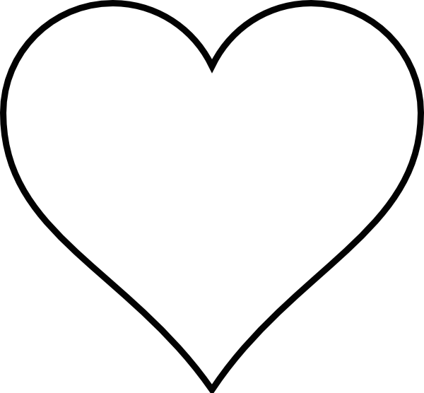 Curly heart outline clipart clip royalty free library Black Outline Heart Clip Art at Clker.com - vector clip art online ... clip royalty free library