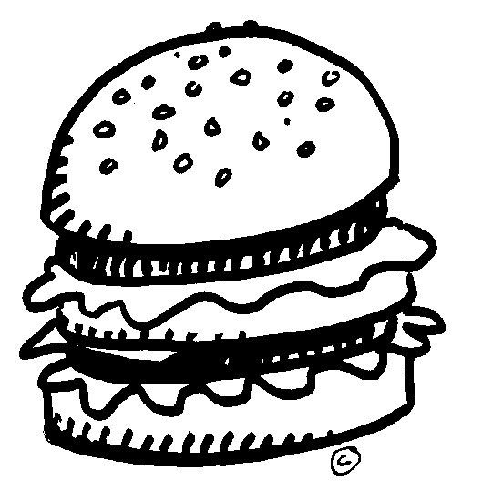 Black and white burger clipart graphic library download Burger clipart black and white 4 » Clipart Portal graphic library download