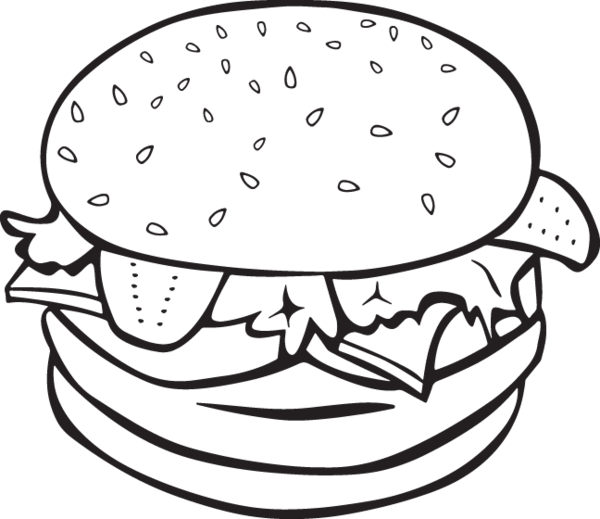 Simple burger and fries black and white clipart clipart royalty free download Burger clipart black and white » Clipart Station clipart royalty free download