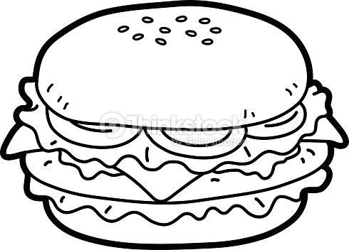 Black and white burger clipart jpg transparent download Burger clipart black and white 5 » Clipart Station jpg transparent download