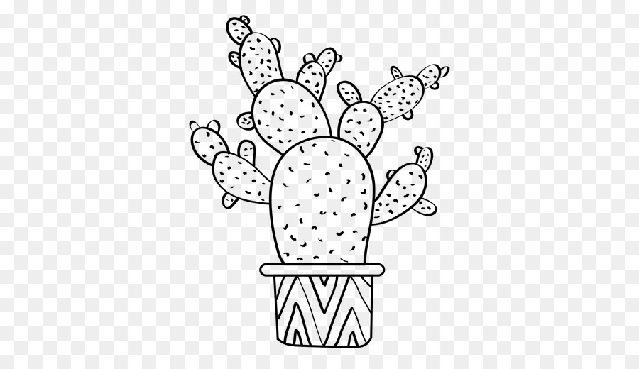 Black and white clipart image of cactus banner library Black And White Cactus Png & Free Black And White Cactus.png ... banner library