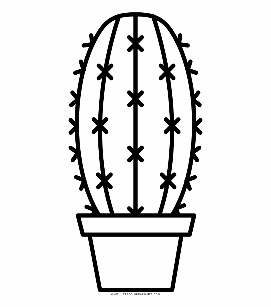Black and white cactus clipart graphic royalty free download Simple Cactus Coloring Page With Collection Of Pages - Black And ... graphic royalty free download