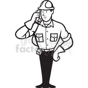 Black and white call clipart jpg black and white download black and white telephone repairman calling phone clipart. Royalty-free  clipart # 388283 jpg black and white download