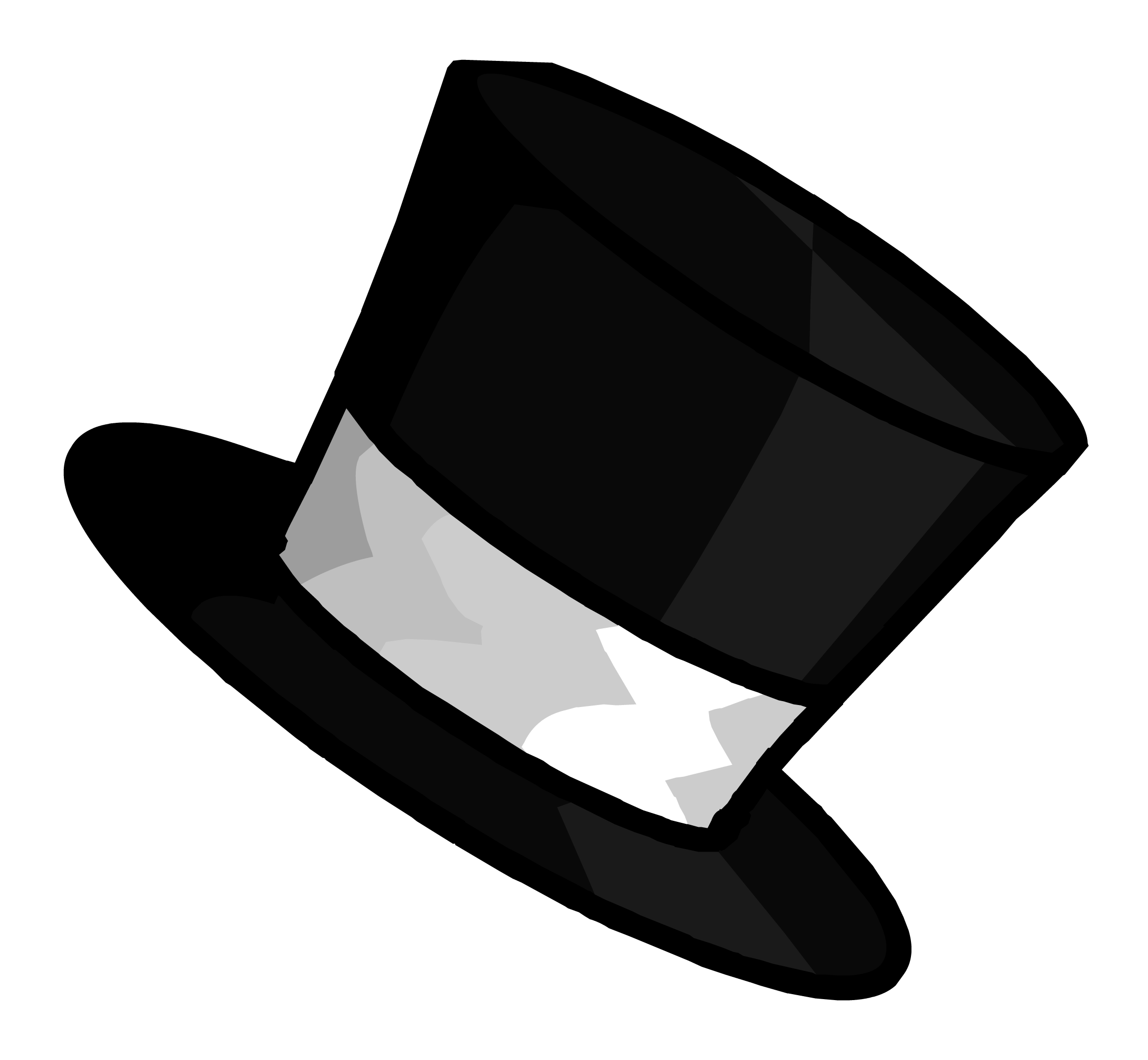 Black and white cartoon baseball cap clipart clip transparent library Top Hat Clipart (49+) clip transparent library