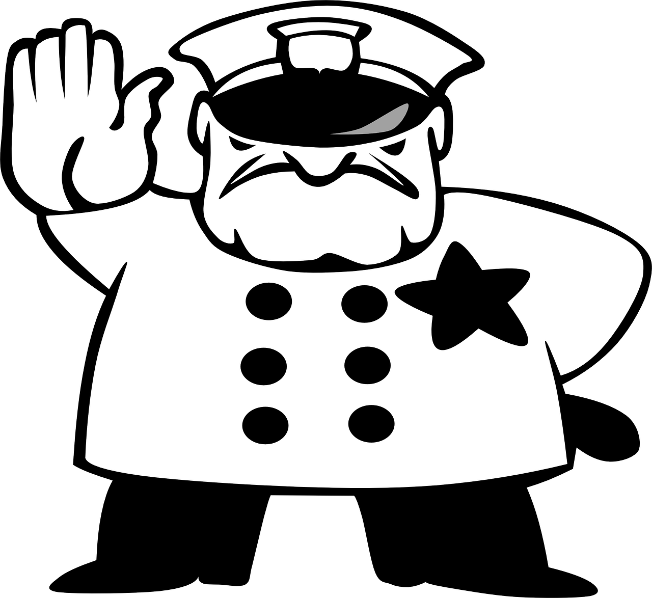 Black and white cartoon baseball cap clipart vector freeuse download Police Hat Drawing at GetDrawings.com | Free for personal use Police ... vector freeuse download