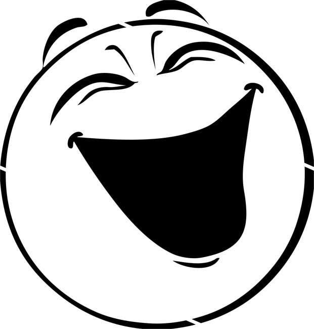 Black and white cartoon clipart of laughing graphic royalty free library Laugh Clipart | Clipart Panda - Free Clipart Images | a silhoette ... graphic royalty free library