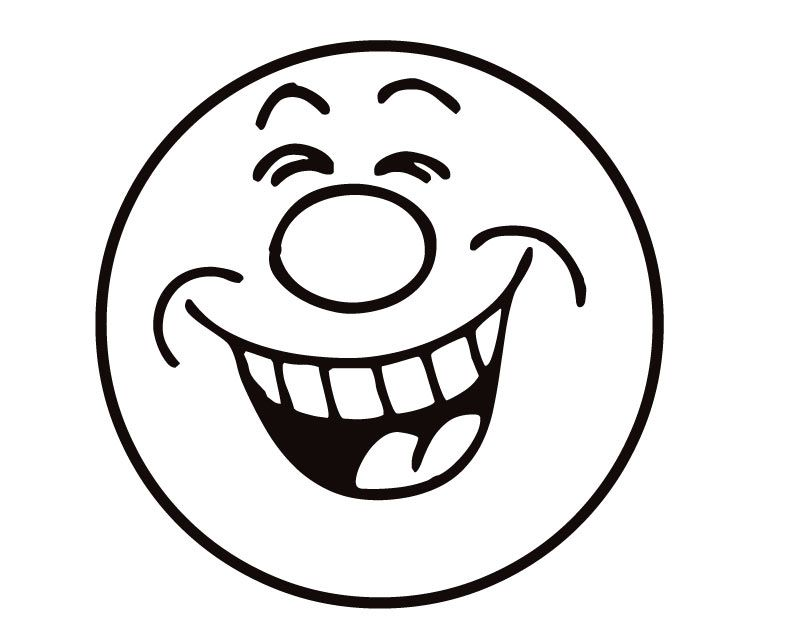 Black and white cartoon clipart of laughing clip black and white download 33 Coloring Pages Of Smiley Faces Free Cliparts That You Can ... clip black and white download