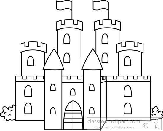 Black and white castle clipart clip art free download Medieval castle black white outline » Clipart Portal clip art free download