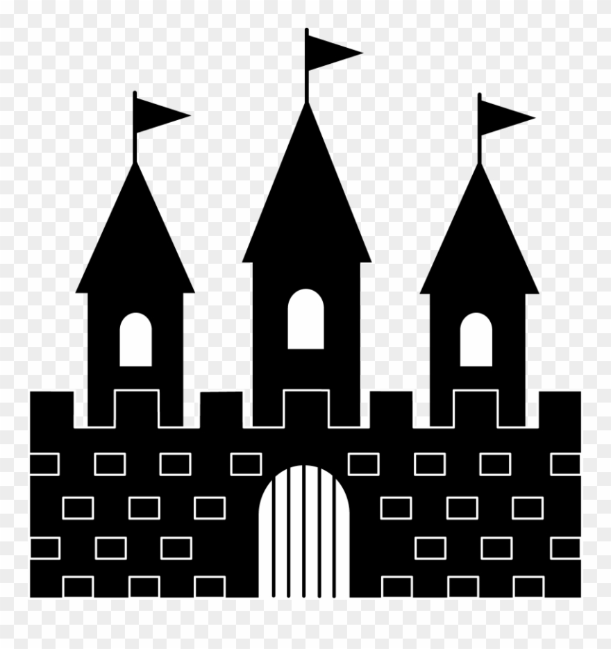 Black and white castle clipart svg black and white library Princess Castle Clipart Black And White Free - Black And White ... svg black and white library
