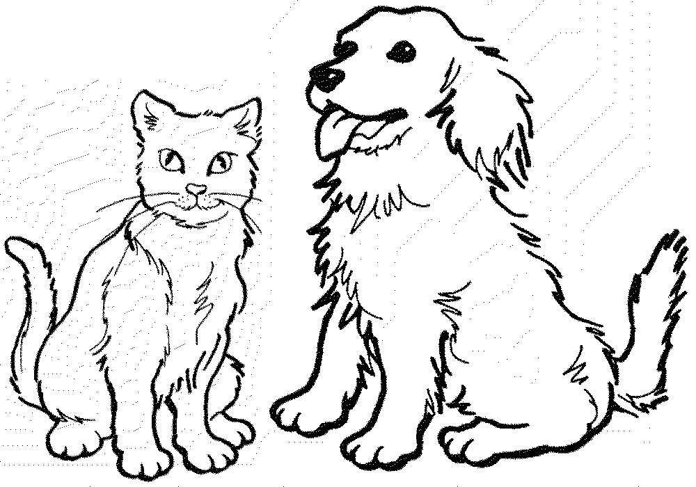 Cat clipart coloring page clip art royalty free Happy Cat Drawing at GetDrawings.com | Free for personal use Happy ... clip art royalty free