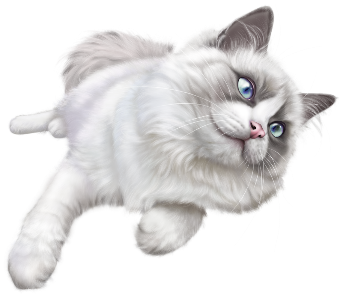 Grey cat clipart jpg freeuse stock White Cat PNG Clip Art - Best WEB Clipart jpg freeuse stock