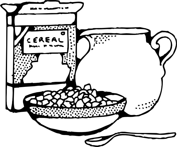 Black and white cereal clipart clip art transparent Cereal Box And Milk clip art Free vector in Open office drawing svg ... clip art transparent