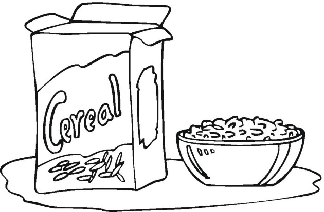 Black and white clipart cereal clipart transparent library Cereal Clipart Black And White - Free Clipart clipart transparent library
