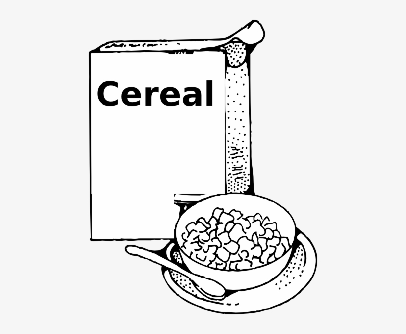 Black and white cereal clipart jpg freeuse library Breakfast Clipart Black And White - Clip Art Black And White Cereal ... jpg freeuse library