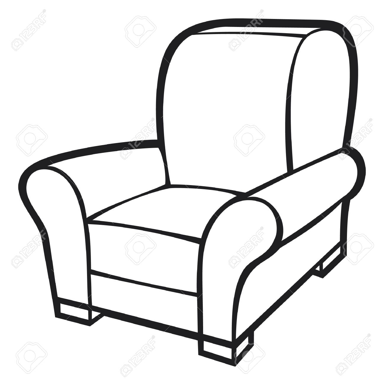 Black and white clipart chair picture freeuse Furniture Clipart Black And White | Free download best Furniture ... picture freeuse