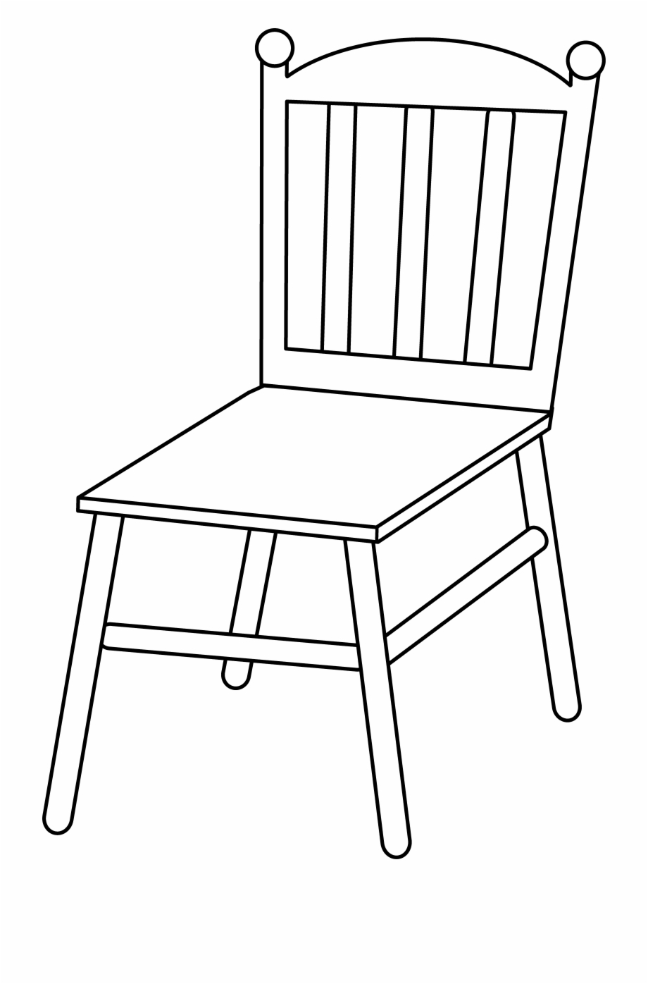 Transparent chair clipart vector royalty free stock Chair Line Art - Transparent Background Chair Clipart Black And ... vector royalty free stock