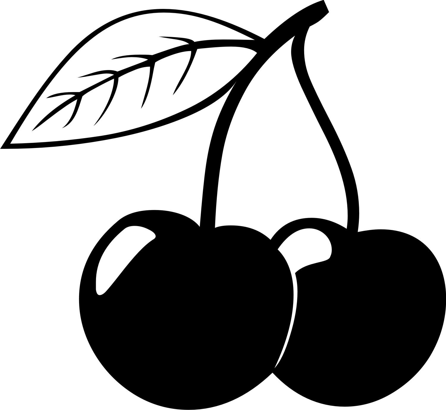 Black and white cherries clipart clip freeuse download Cherry | silhouette | Cherry tattoos, Cherry drawing, Strawberry tattoo clip freeuse download