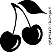Black cherry clipart