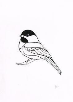Black and white chickadee clipart clip transparent stock Chickadee Clipart Black and White #24 | Chickidees | Drawings ... clip transparent stock