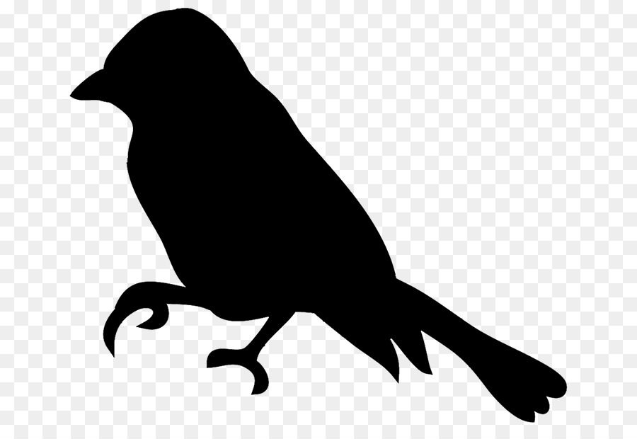 Black and white chickadee clipart png library Bird Silhouette png download - 709*605 - Free Transparent Bird png ... png library