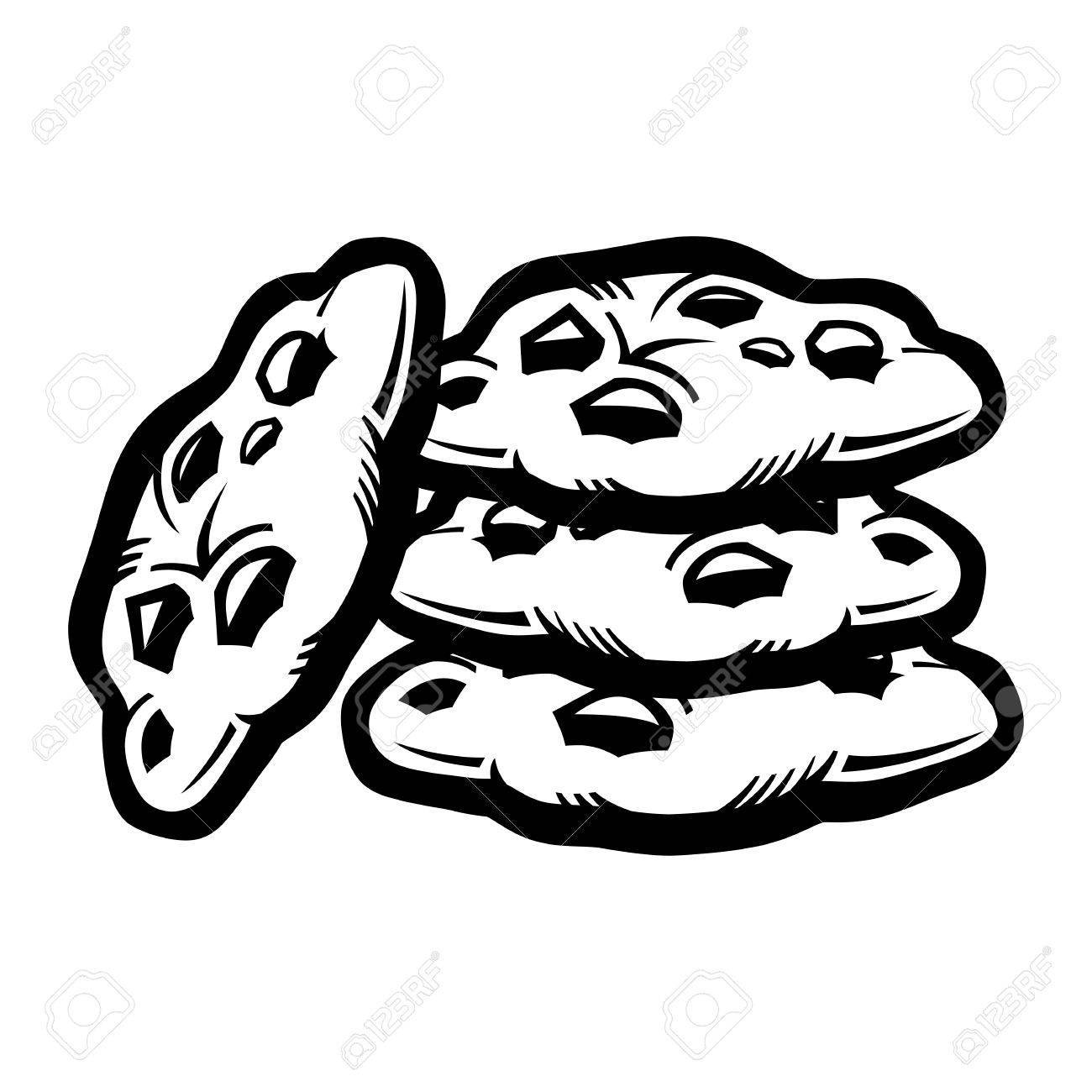 Clipart black and white chocolate chip cookie image stock Chocolate chip cookies clipart black and white 6 » Clipart Portal image stock