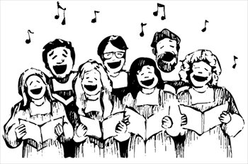 Clipart of a choir vector transparent download Choir clipart black and white 1 » Clipart Station vector transparent download