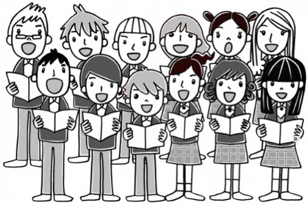 Clipart of a choir image freeuse Choir Clipart Black And White | Clipart Panda - Free Clipart Images image freeuse