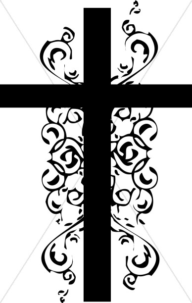 Christian black and white clipart graphic free Black and White Christian Cross Clipart | Cross Clipart graphic free