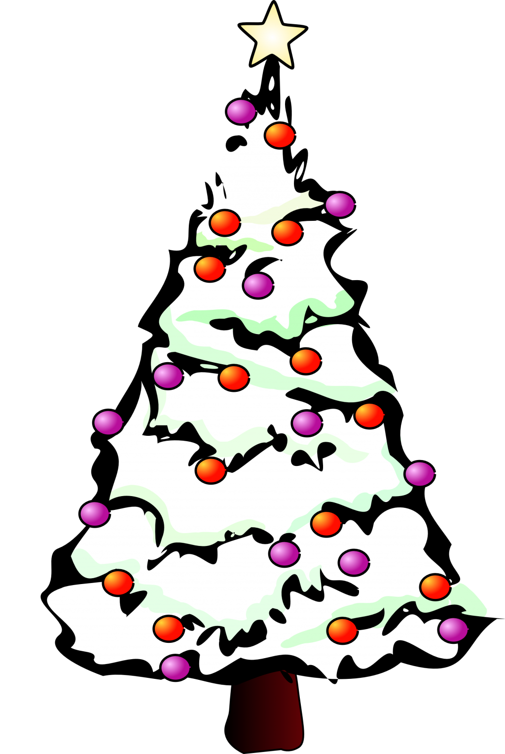 Black and white clipart christmas tree png download baby nursery ~ Entrancing Snowy Christmas Tree Black And White ... png download