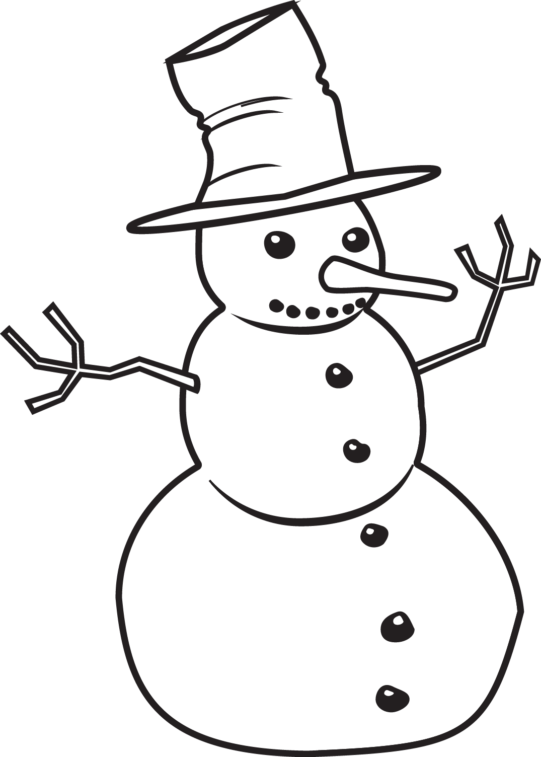 Black and white christmas clipart free png transparent download Free Black And White Snowman Clipart & Free Black And White Snowman ... png transparent download