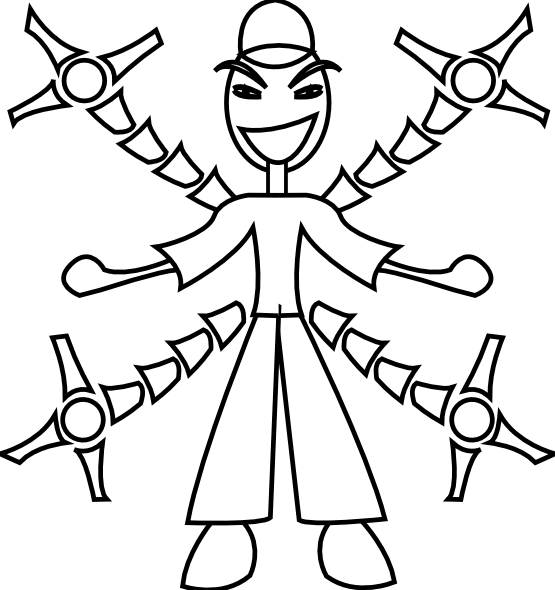 Black and white christmas electronics clipart svg freeuse man with Robot Arm Black White Line Art Christmas Xmas Electronics ... svg freeuse