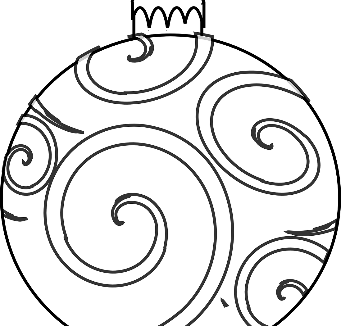 Black and white christmas ornament clipart image library stock Christmas Ornament Line Drawing at GetDrawings.com | Free for ... image library stock