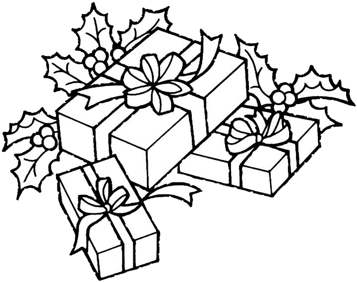 Christmas presents clipart black and white image black and white library 28+ Collection of Christmas Present Drawings For Kids | High quality ... image black and white library