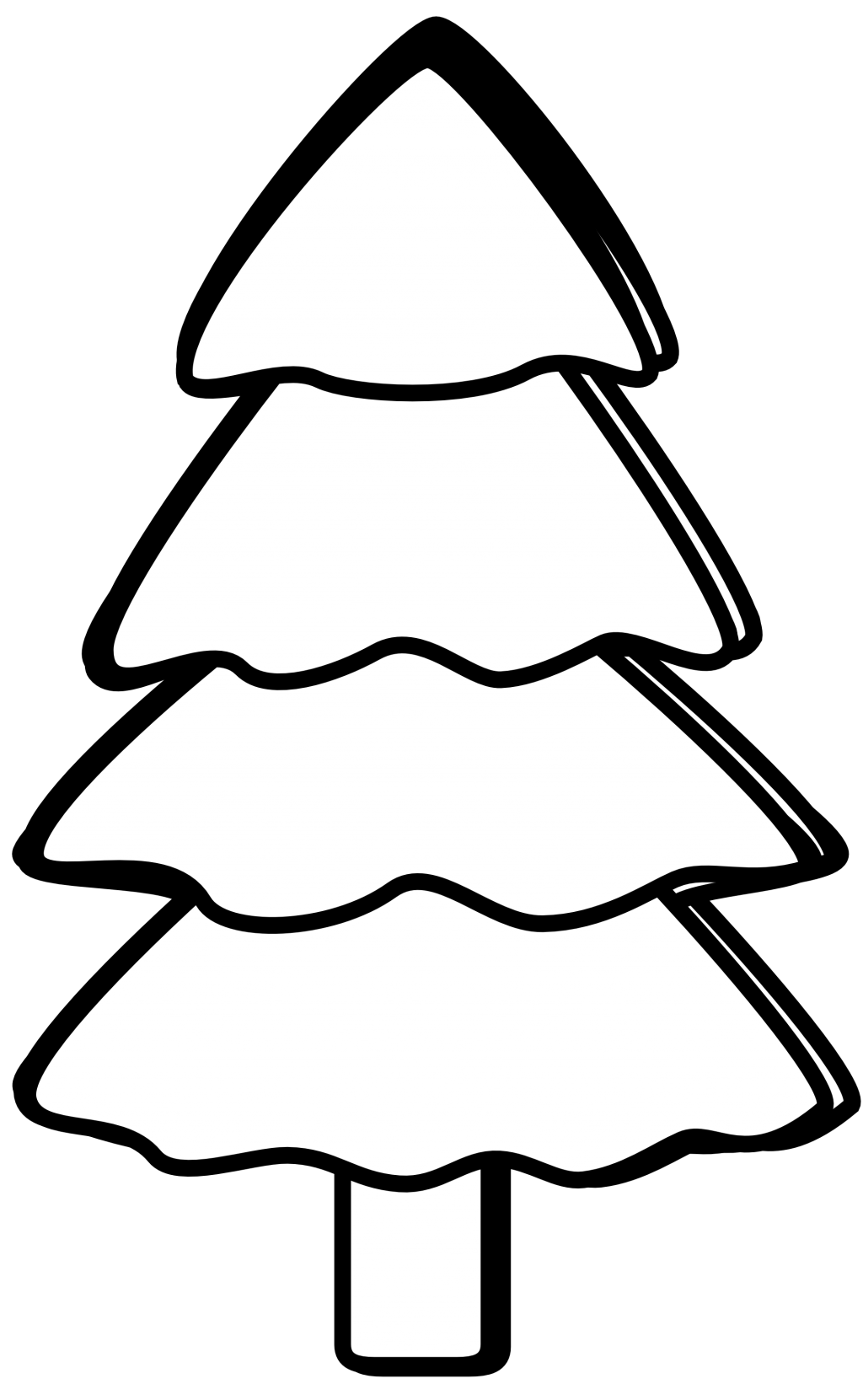 Christmas tree clipart black white graphic baby nursery ~ Charming Black And White Xmas Tree Clipart Kid ... graphic
