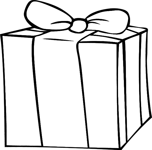 Black and white christmas present clipart png freeuse library 28+ Collection of Birthday Presents Clipart Black And White | High ... png freeuse library