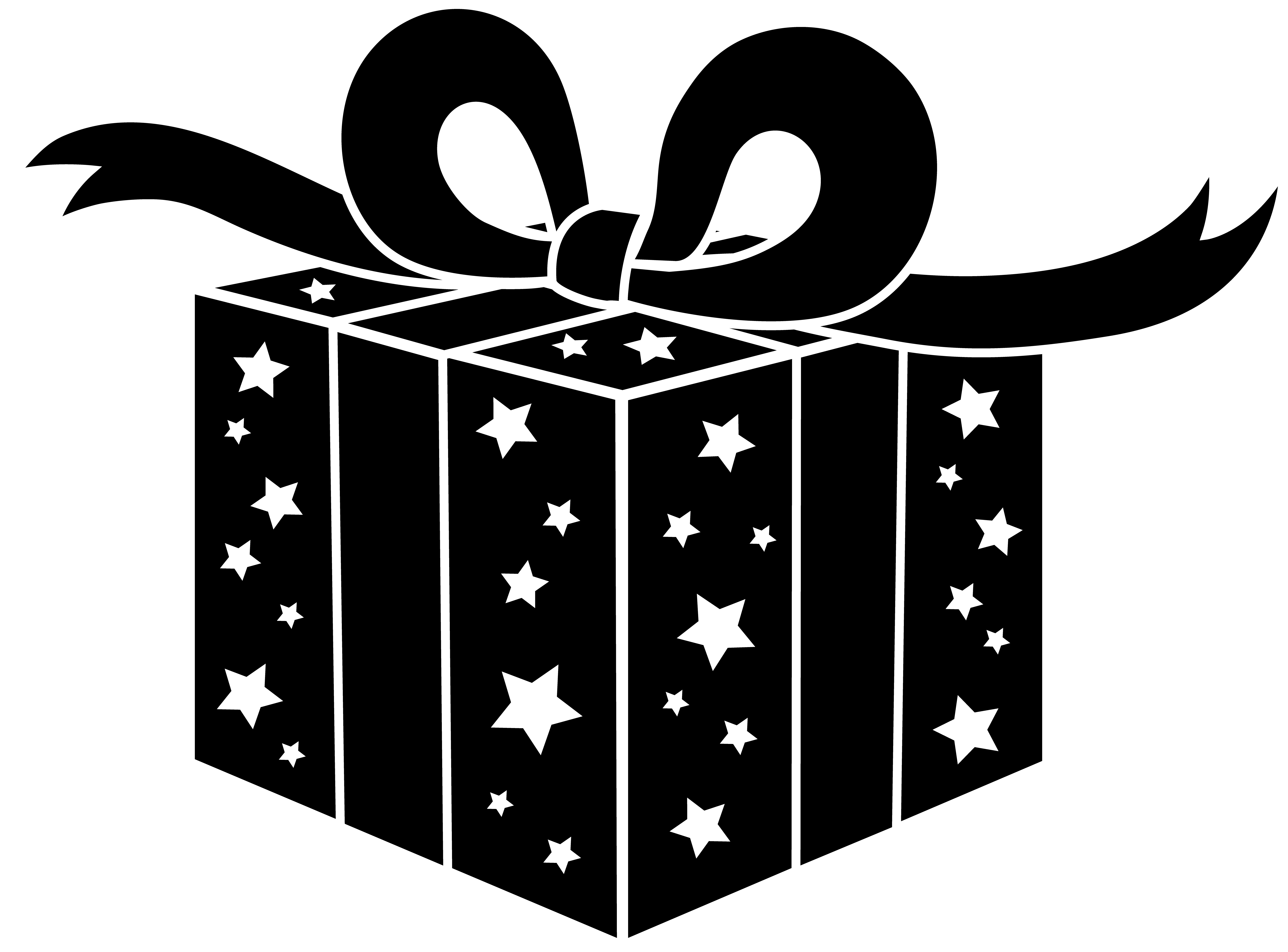 Free clipart christmas presents clipart transparent stock presents png file | Black and White Party Gift - Free Clip Art ... clipart transparent stock