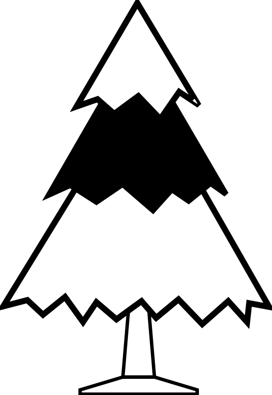 Christmas tree clipart black white picture freeuse download Christmas Tree Clipart Black And White | Clipart Panda - Free ... picture freeuse download