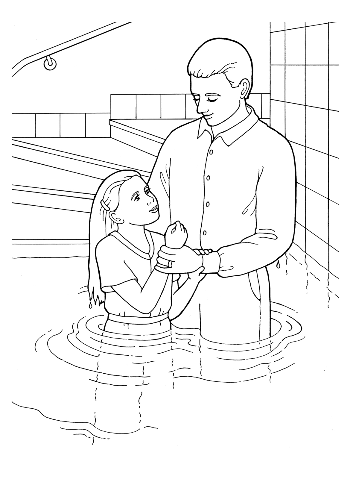 Black and white church young baptism lds clipart jpg transparent download Young Girl Baptism jpg transparent download