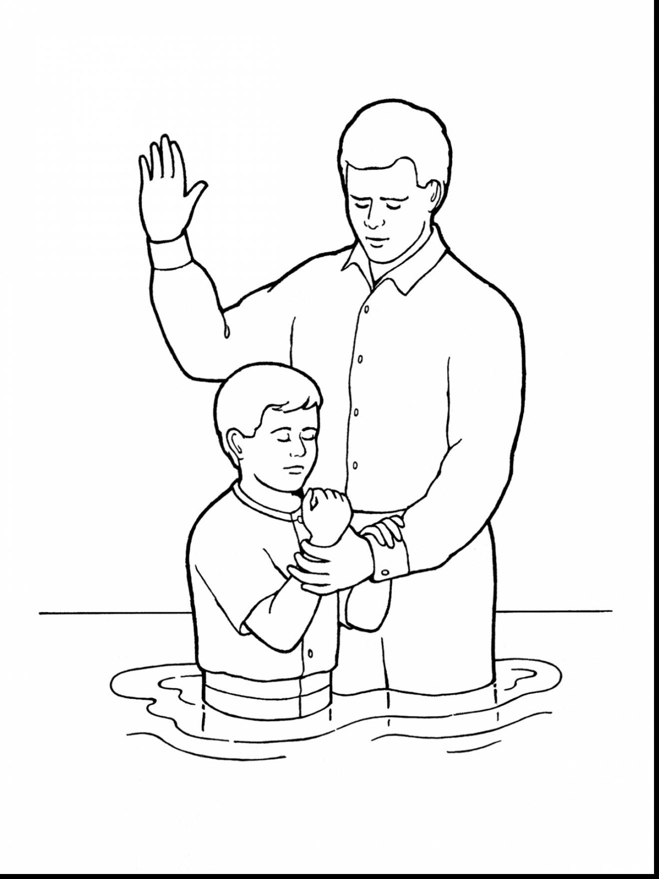 Black and white church young baptism lds clipart banner stock Image result for lds baptism coloring pictures   Primary Helps   Lds ... banner stock