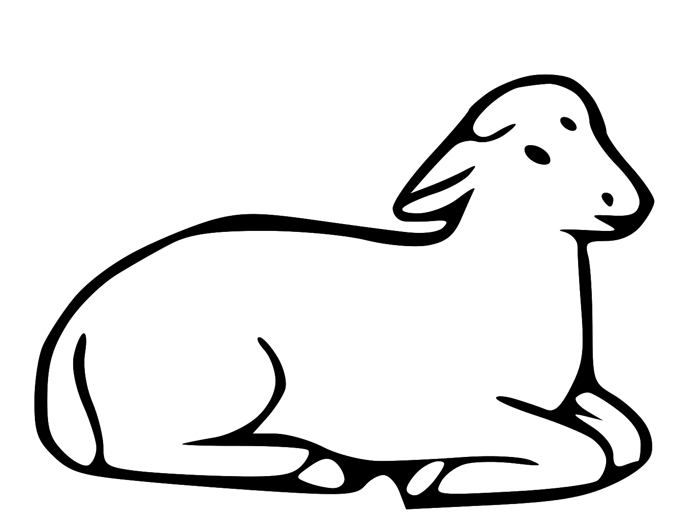Black and white church young sheep clipart clip art library Free download Passover Lamb Black And White Clipart for your ... clip art library