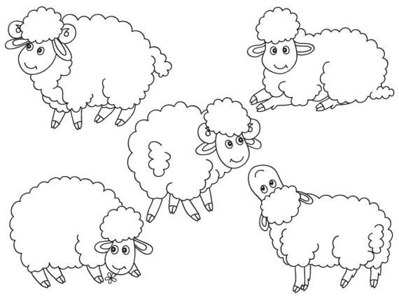 Cute sheep baby lambs flock free clipart vector png free library Pin by Jenna Bean on Art Alive | Sheep, Sheep drawing, Farm animals png free library