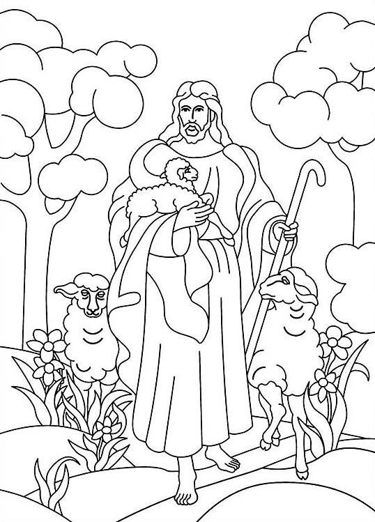 Black and white church young shephard lds clipart graphic free download Jesus is the Good Shepherd Bible coloring page | Church inspiration ... graphic free download