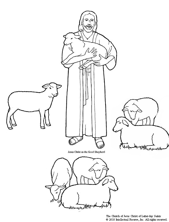 Black and white church young shephard lds clipart clip royalty free stock Mormon Share } CTR A Lesson 23 The Good Shepherd | sunday school ... clip royalty free stock