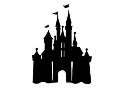 Snow castle clipart black and white sketch graphic library library Disneyland Castle Silhouette | Clipart Panda - Free Clipart Images ... graphic library library