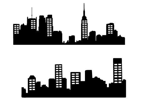 World city lines clipart silhouette picture Free City Skyline Silhouette Vector – City Silhouette Graphics ... picture