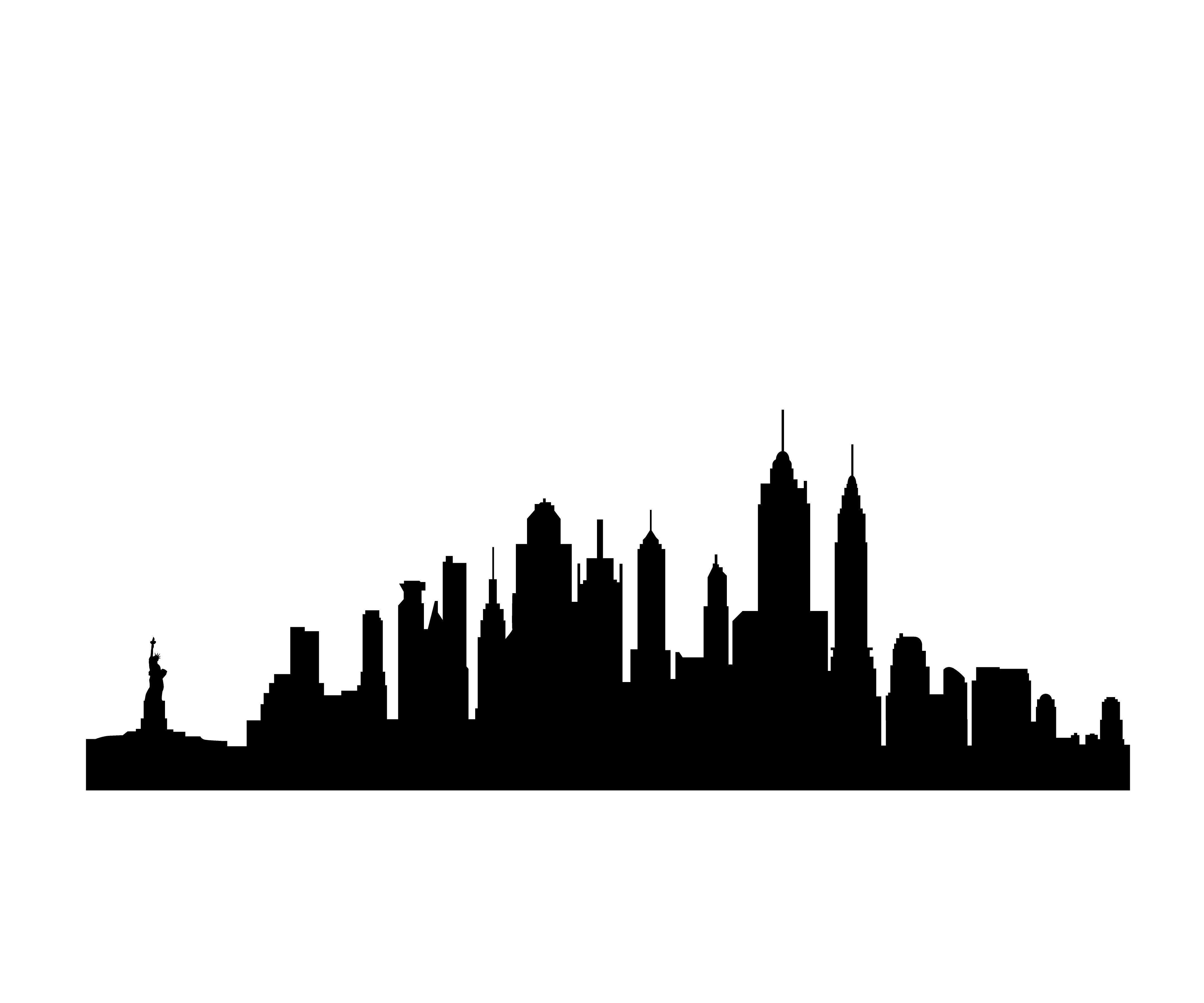 New york city illustration clipart picture royalty free library Skyline Silhouette - ClipArt Best | Spiderman | Inspiração para ... picture royalty free library