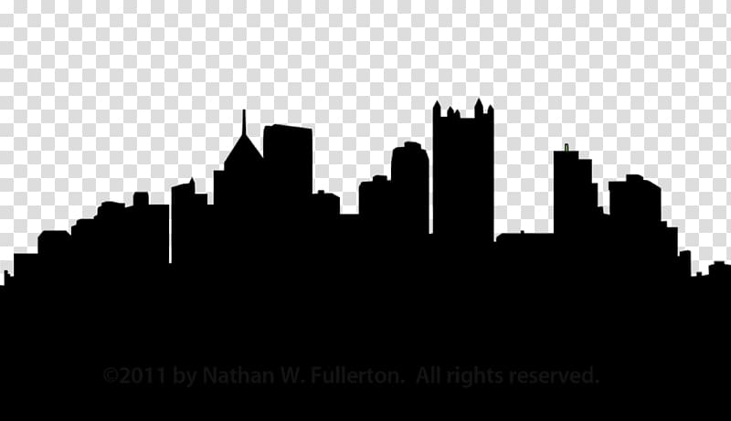 Black and white city skyline clipart banner royalty free download Silhouette of city buildings, Pittsburgh Skyline Silhouette , City ... banner royalty free download