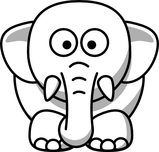 Black and white clip art image free library Elephant Clip Art Black And White | Clipart Panda - Free Clipart ... image free library